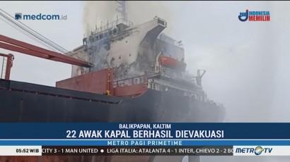 Kapal Tanker Terbakar di Perairan Bontang, 22 Orang Dievakuasi