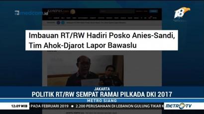 Pemprov DKI Larang Pengurus RT/RW Berpolitik