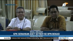 KPK Serahkan Sertifikat Tanah Setnov ke BPN Kota Bekasi
