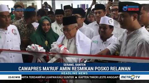 Ma'ruf Amin Resmikan Posko Relawan Rakyat Bersama Ulama Banten
