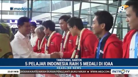 Pelajar Indonesia Raih 5 Medali Olimpiade Astronomi di Tiongkok