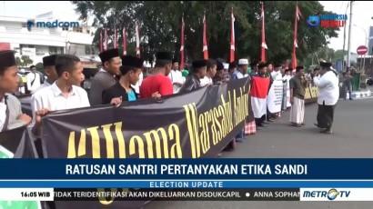 Ratusan Santri di Jombang Demo Sandi Karena Langkahi Makam Pendiri NU