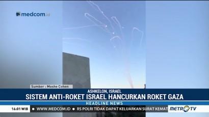Sistem Anti Roket Israel Hancurkan Roket Gaza