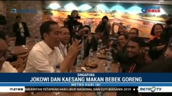 Jokowi Ditemani Kaesang Jalan-jalan di Mal Singapura