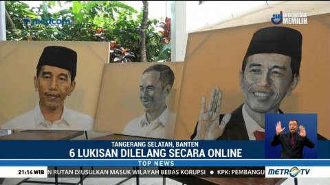 Lelang Lukisan Wajah Jokowi untuk Donasi Bencana