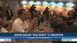 Jokowi Makan Nasi Bebek di Singapura
