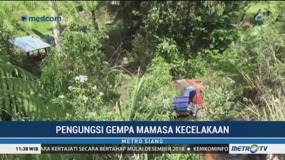 Mobil Pengangkut Pengungsi Gempa Mamasa Terjun ke Jurang