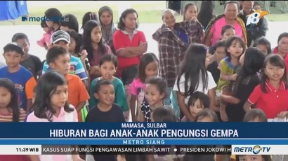 Anak-Anak Korban Gempa Mamasa Jalani <i>Trauma Healing</i>