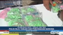 Polrestabes Surabaya Rilis Temuan 4 Kg Sabu & 7 Ribu Butir Ekstasi