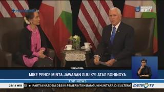 Suu Kyi Angkat Bicara Soal Krisis Rohingya Dihadapan Mike Pence