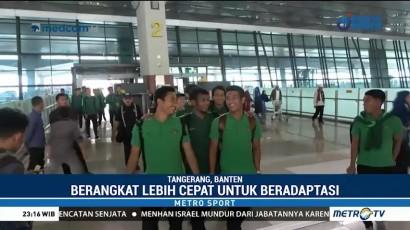 Skuat Timnas Indonesia Bertolak ke Thailand