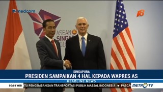 Presiden Jokowi Sampaikan Empat Hal Kepada Wapres AS