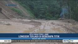 Hujan Deras, Kota Sungai Penuh di Jambi Tertimpa Longsor