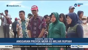 Wali Kota Risma Bersama KPK Tinjau Proyek MERR Gunung Anyar