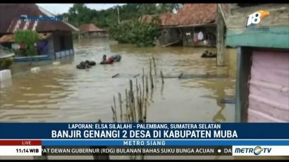 Dua Desa di Musi Banyuasin Terendam Banjir
