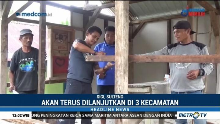 Dompet Kemanusiaan Media Group Lanjutkan Pembangunan Huntara di Sigi