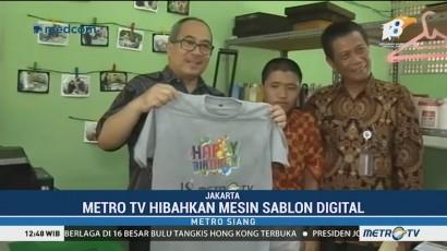 Metro TV Hibahkan Mesin Sablon Digital kepada SLBN 5 Jakarta