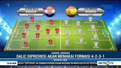 Kroasia Siap Balas Kekalahan dari Spanyol