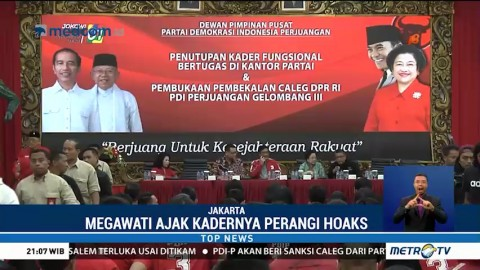 Megawati Ajak Kader PDIP Perangi Hoaks