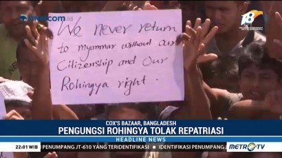Ribuan Pengungsi Rohingya Tolak Repatriasi