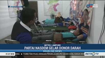 NasDem Gelar Donor Darah