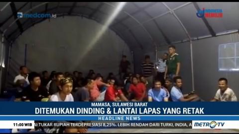 Puluhan Napi Lapas Mamasa Dipindahkan ke Tenda Pengungsian
