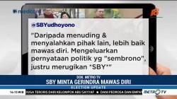 SBY Terusik Ocehan Sekjen Gerindra