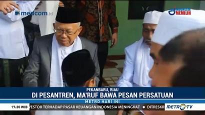Berkunjung ke Riau, Ma'ruf Amin Bawa Pesan Persatuan