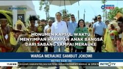 Resmikan Monumen Kapsul, Jokowi Disambut Hangat Warga Merauke