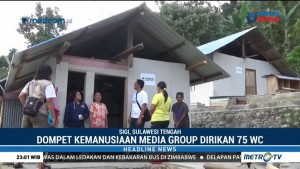 Media Group Bangun 75 Toilet untuk Korban Gempa Sulteng