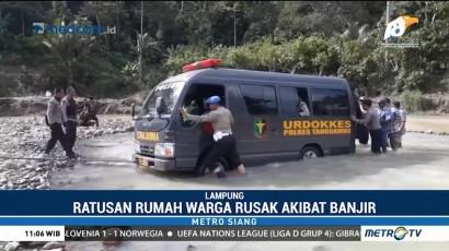 Ratusan Rumah di Tanggamus Rusak Akibat Banjir Bandang