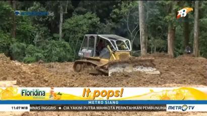 2 Alat Berat Bersihkan Material Longsor di Jalan Nasional Sungaipenuh