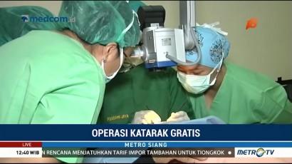 Ratusan Pasien Dibantu Operasi Katarak Gratis