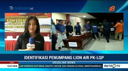 DVI Polri Kembali Identifikasi Tiga Jenazah Korban Lion Air