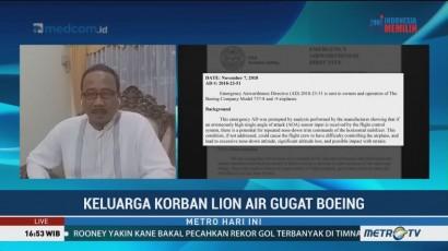 Keluarga Dokter Rio Korban Lion Air PK-LQP Gugat Boeing