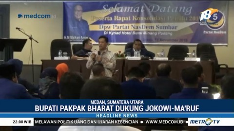Bupati Pakpak Bharat Deklarasi Dukung Jokowi-Ma'ruf