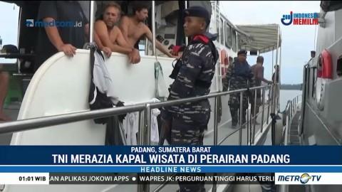 TNI Gelar Razia Kapal Wisata di Perairan Padang