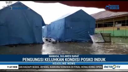Tenda Pengungsi di Mamasa Kebanjiran