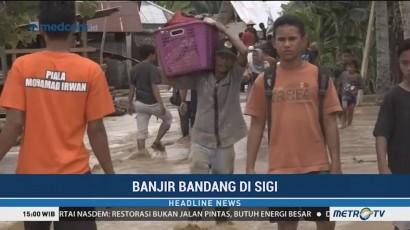 Sigi Kembali Dilanda Banjir, Ratusan Warga Mengungsi