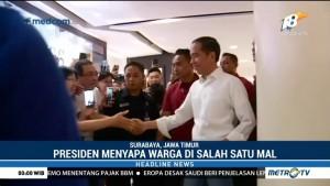 Jokowi Sapa Warga di Tunjungan Plaza Surabaya