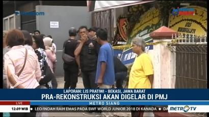 Polisi Prarekonstruksi Pembunuhan Satu Keluarga di Sukabumi