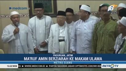 Ma'ruf Safari Politik ke Pasuruan, Sandiaga ke Temanggung