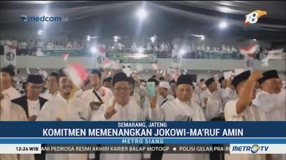 Jaringan Kiai dan Santri se-Jateng Deklarasi Dukung Jokowi-Ma'ruf