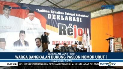 Warga Bangkalan Dukung Jokowi-Ma'ruf