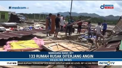 133 Rumah di Manggarai Barat Rusak Diterjang Angin Puting Beliung