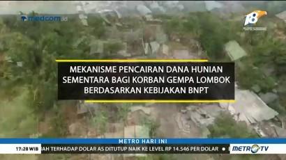 Mekanisme Pencairan Dana Huntara Bagi Korban Gempa Lombok
