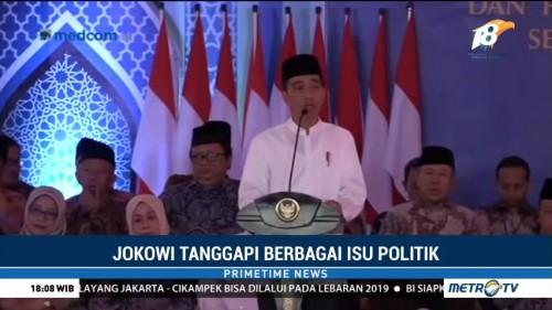 Jokowi Kembali Tanggapi Berbagai Isu Politik