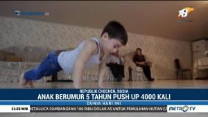 Push-up 4.000 Kali, Bocah 5 Tahun Asal Rusia Dapat Hadiah Mobil