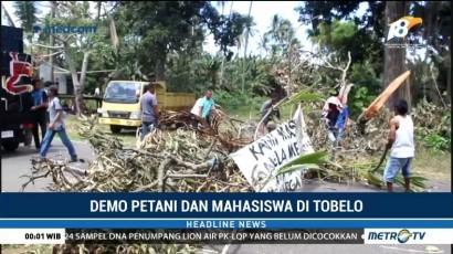 Petani dan Mahasiswa Blokade Jalan Tobelo-Galela