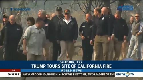 Trump Tours Site of California Fire